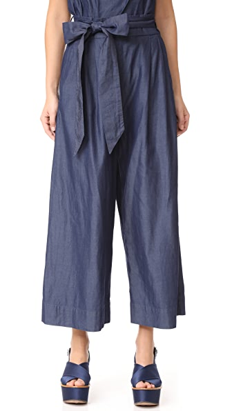 Tibi Obi Culottes - Dark Denim