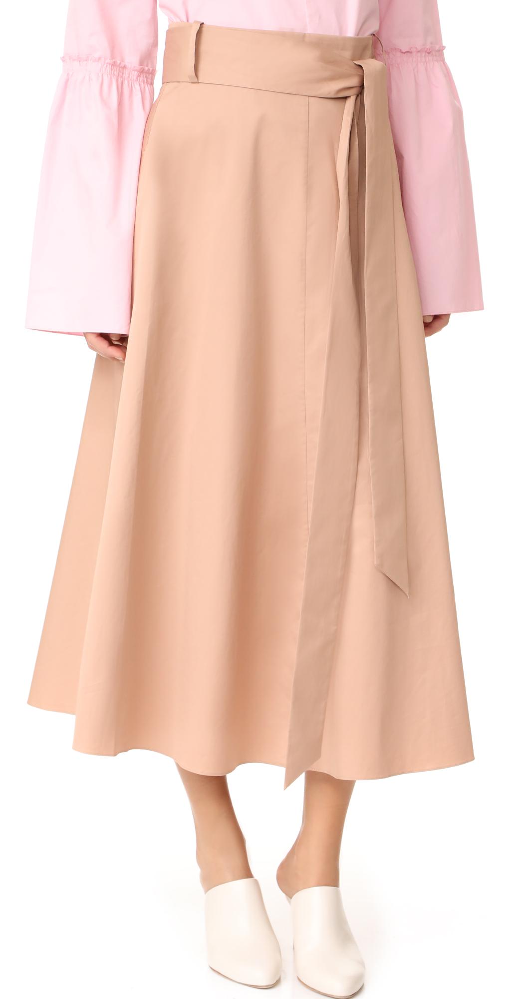 Back Wrap Skirt Tibi