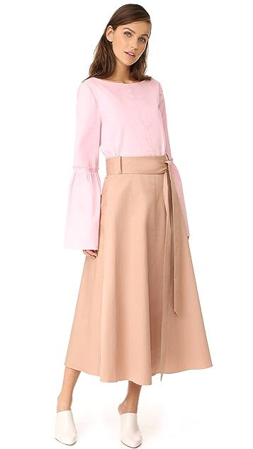Tibi Back Wrap Skirt