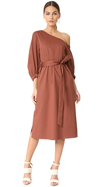 Фото Tibi Миди-платье на одно плечо. Купить с доставкой