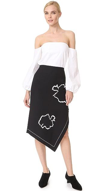 Tibi Asymmetrical Pencil Skirt