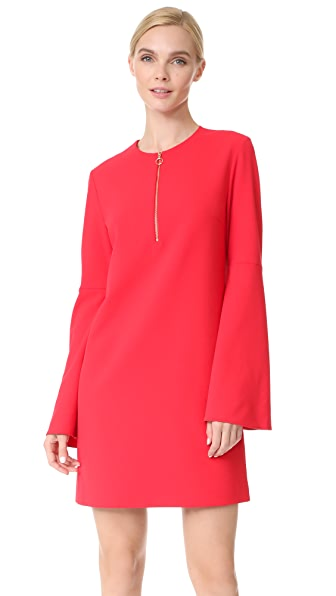 Tibi Zip Front Dress - Elia Red