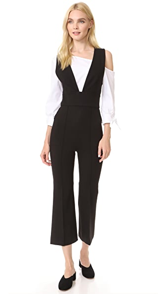 Tibi Ponte Tailored Jumpsuit - Black