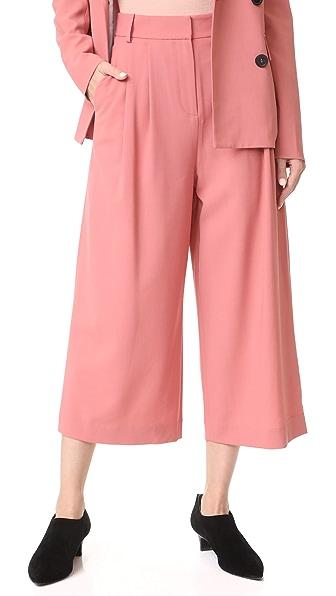 Tibi Stella Wide Leg Culottes In Blush Rose