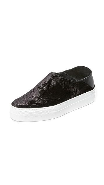 Tibi Charlie Velvet Mule Sneakers