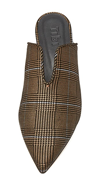 Tibi Cacey Houndstooth Mules