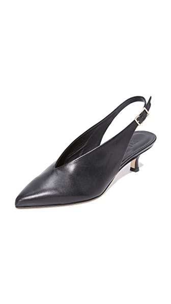 Tibi Lia Slingback Pumps In Black