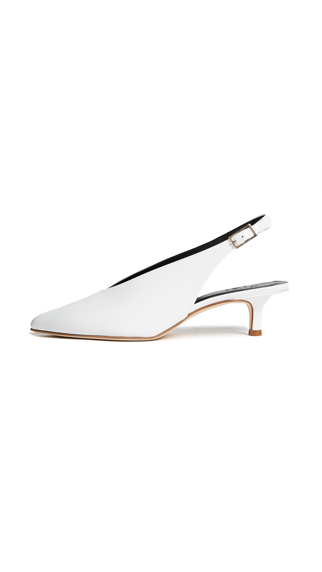 Tibi Lia Slingback Pumps - Bright White