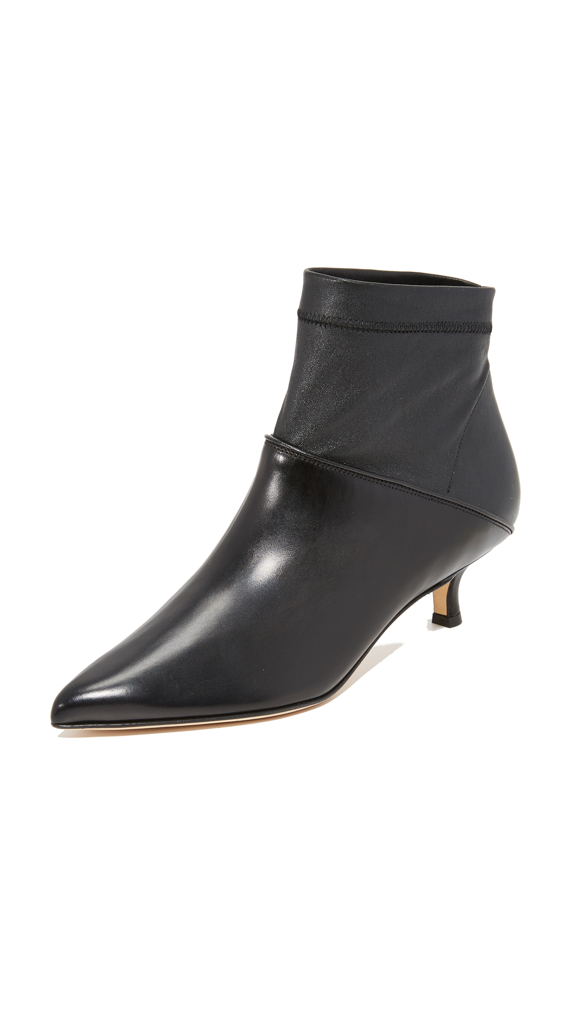 Tibi Jean Booties - Black