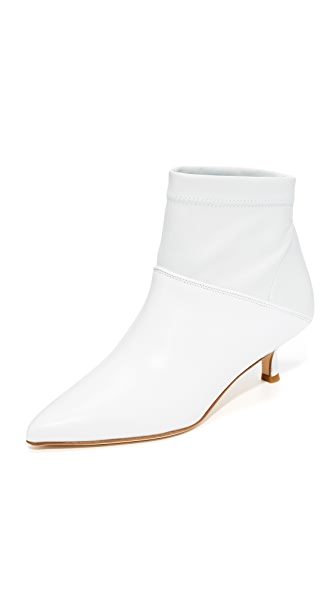 Tibi Jean Booties - Bright White