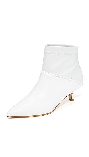 Tibi Jean Booties In Bright White