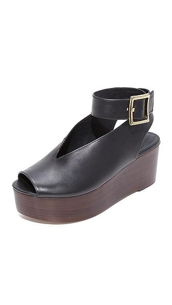 Tibi Camilla Flatform Sandals In Black