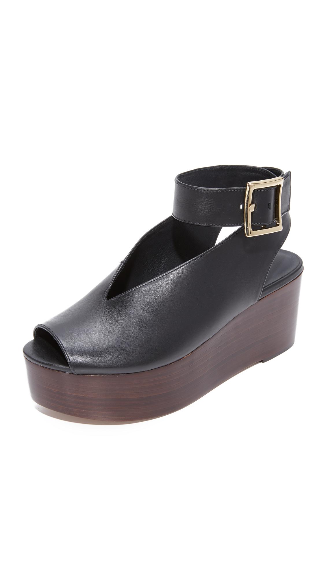 Tibi Camilla Flatform Sandals - Black