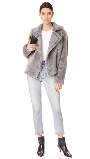 Tibi Shearling Aviator Jacket
