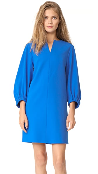 Tibi Structured Split Neck Shift Dress