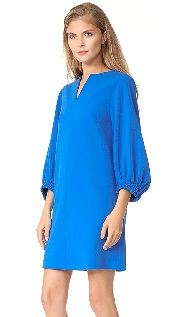 Tibi Structured Split Neck Shift Dress