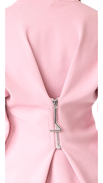 Tibi Sweater with Zip Detail
