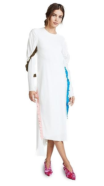 Tibi Midi Ruffle Dress