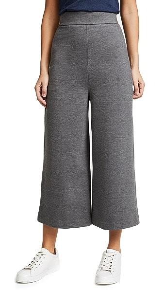 Tibi High Waisted Nerd Pants In Dark Heather Grey