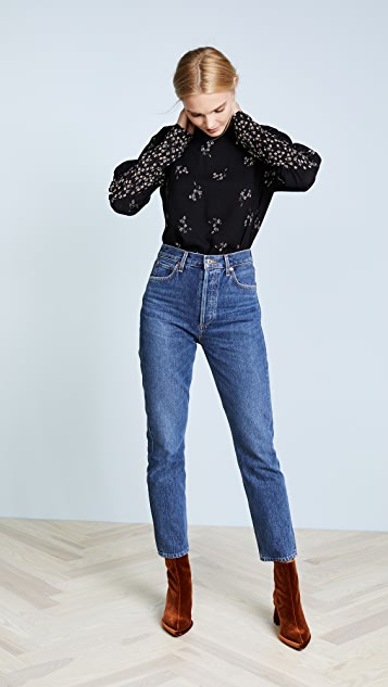 Tibi Lila Floral Florence Top