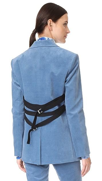 Tibi Velvet Oversized Blazer with Removable Straps