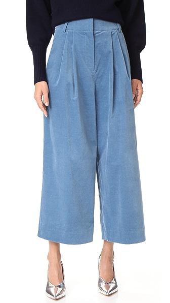 Tibi Bianca Velvet Cropped Pants