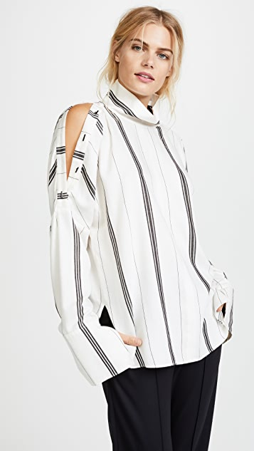 Tibi Warren Drape Top