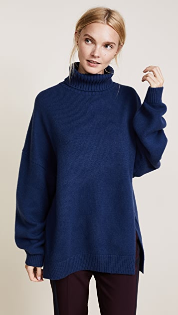 Tibi Cashmere Turtleneck Oversized Sweater