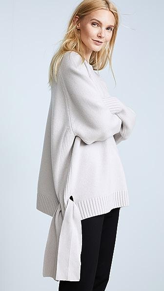 Tibi Cashmere Tie Detail Sweater