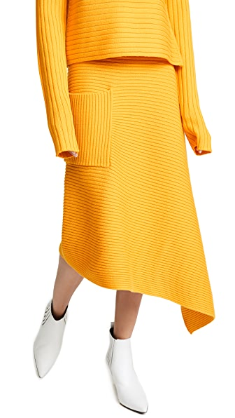 Tibi Origami Skirt In Marmalade Vigari Fashion