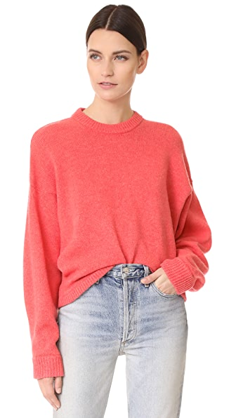 Tibi Shetland Oversized Sweater In Shrimp