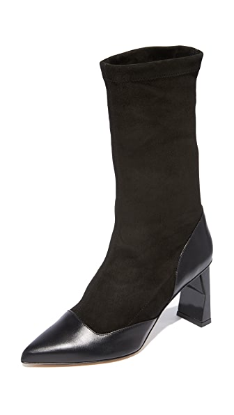 Tibi Felice Sock Boots In Black