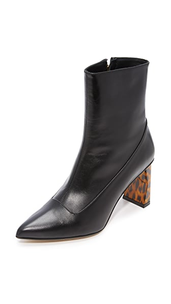Tibi Alexis Mid Booties - Black