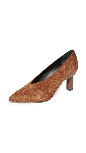 Tibi Zuri Choke Up Pumps In Rust