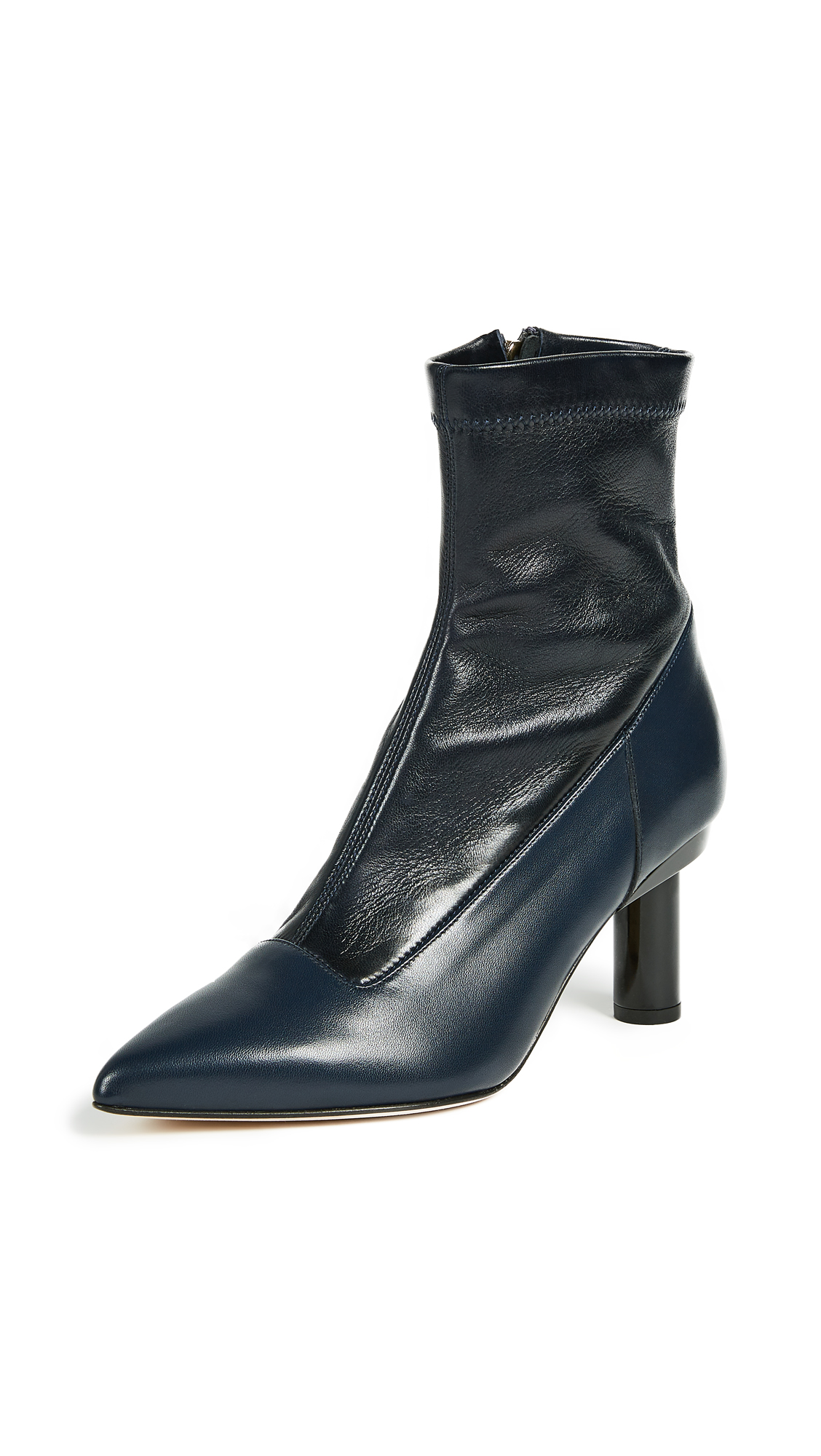 Tibi Ethan Booties - Black/Navy