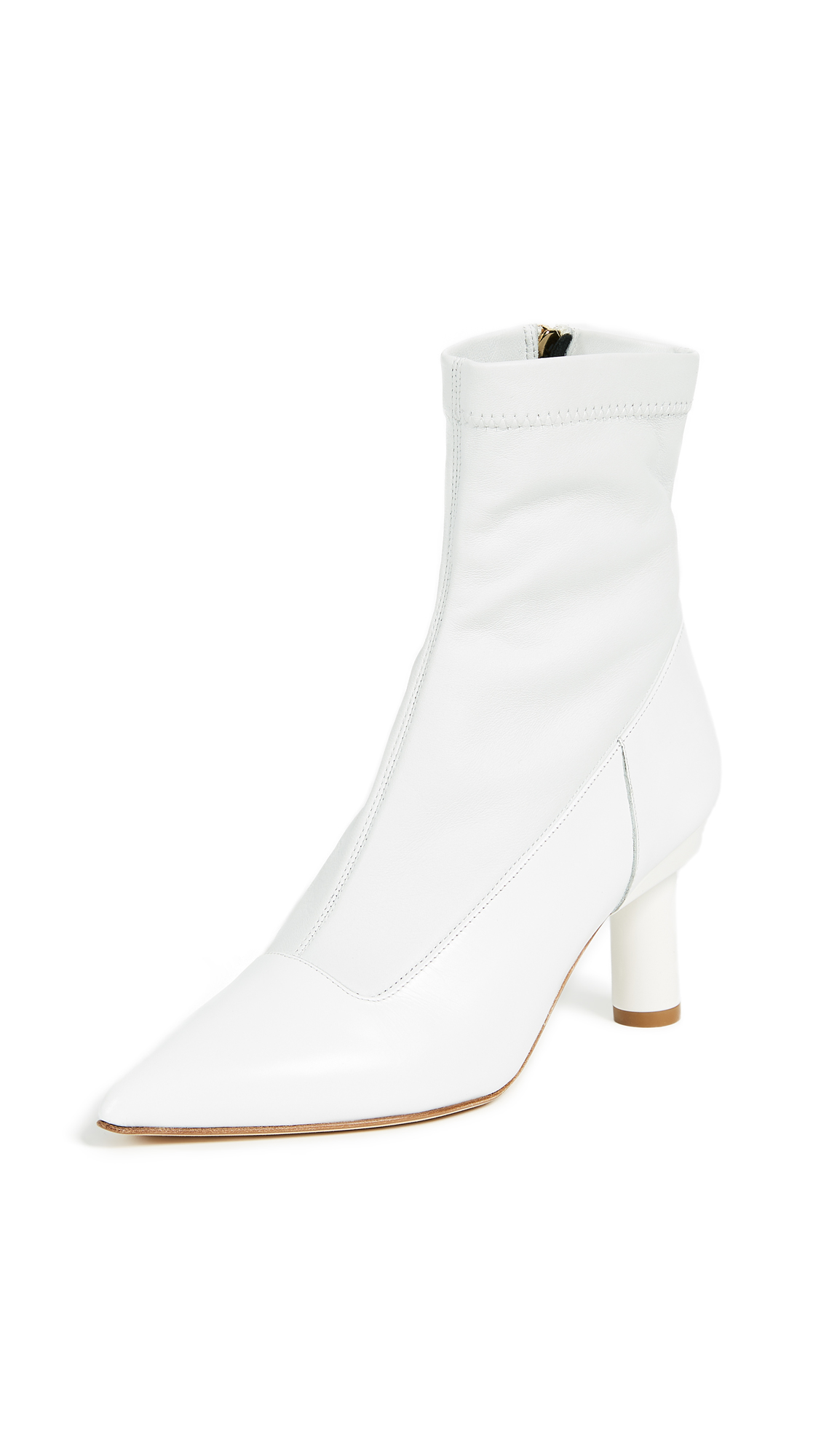 Tibi Ethan Booties - Bright White