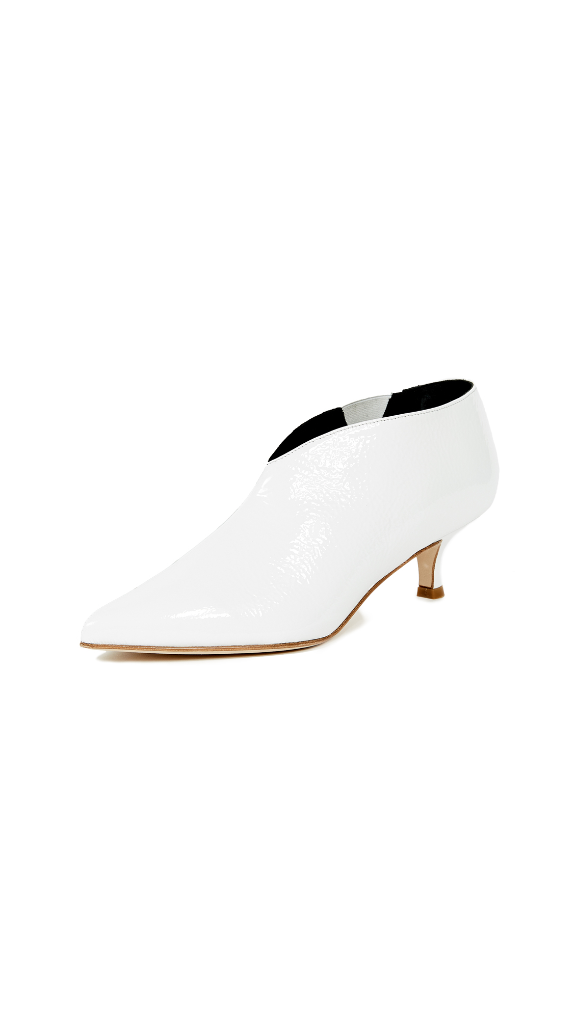 Tibi Joe Short Booties - Bright White
