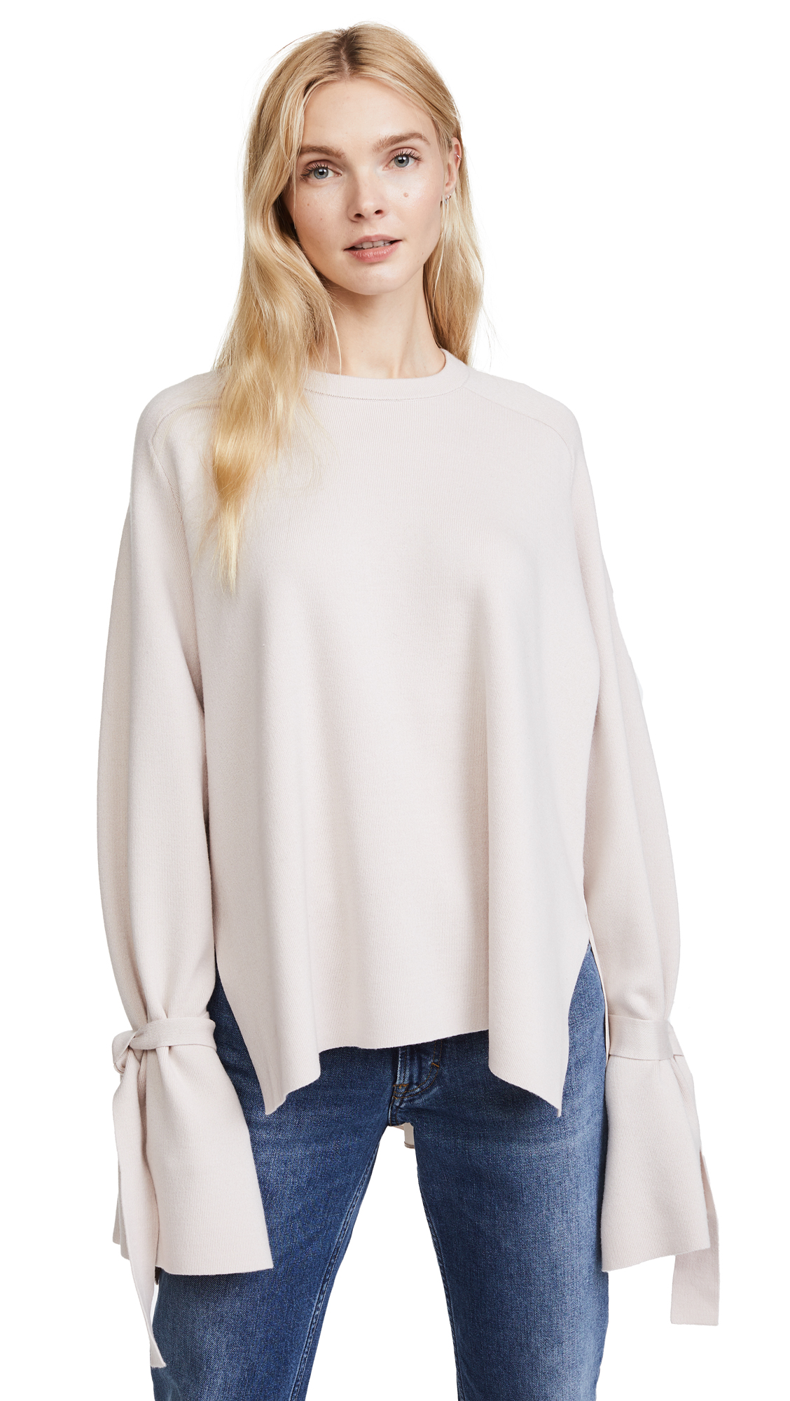 Tibi Flare Sleeve Sweater - Blush