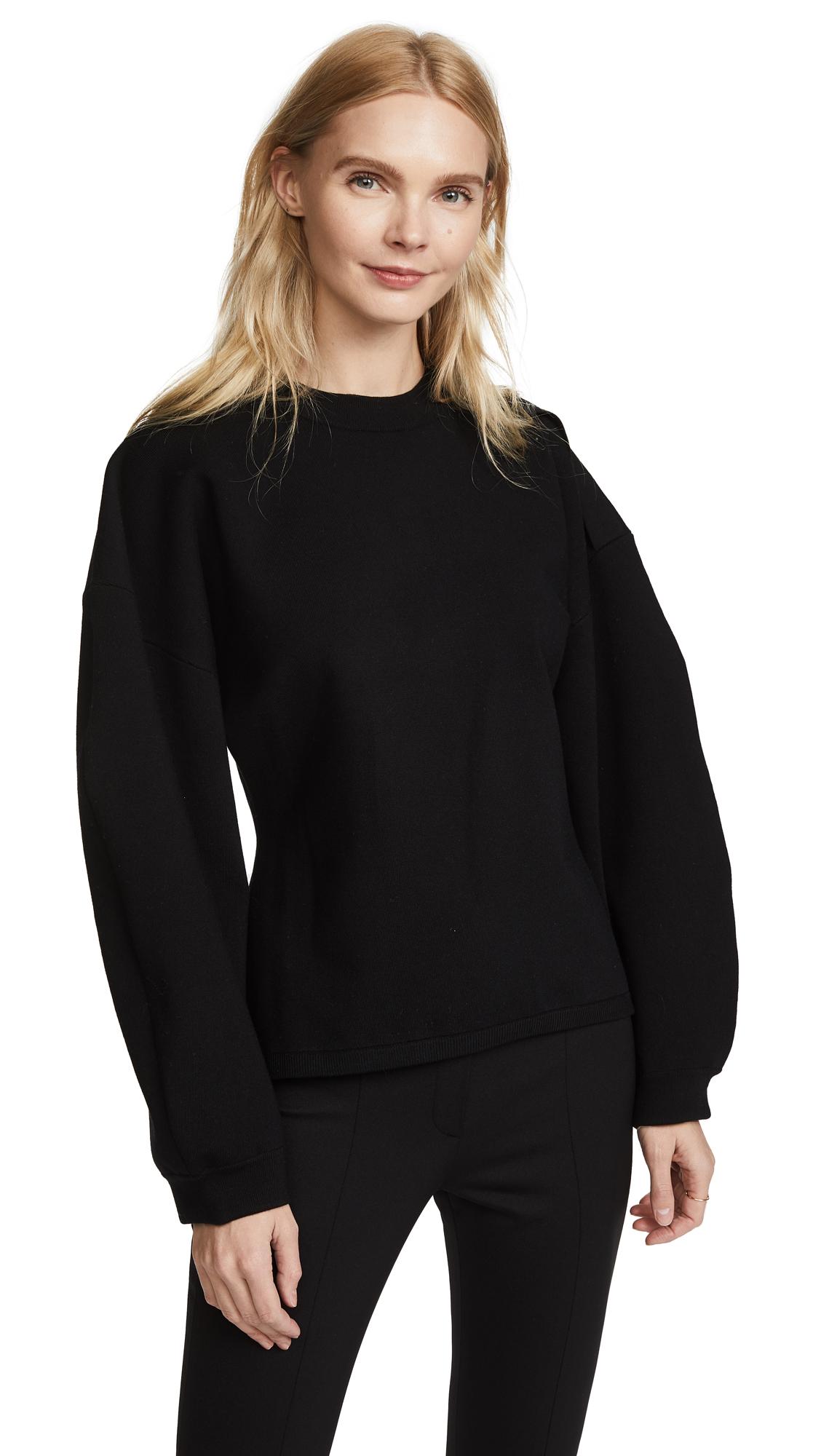 Tibi Sculpted Sleeve Pullover - Black
