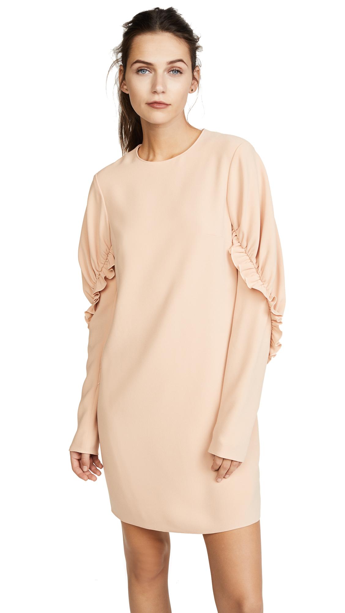 Tibi Short Ruffle Dress - Blush