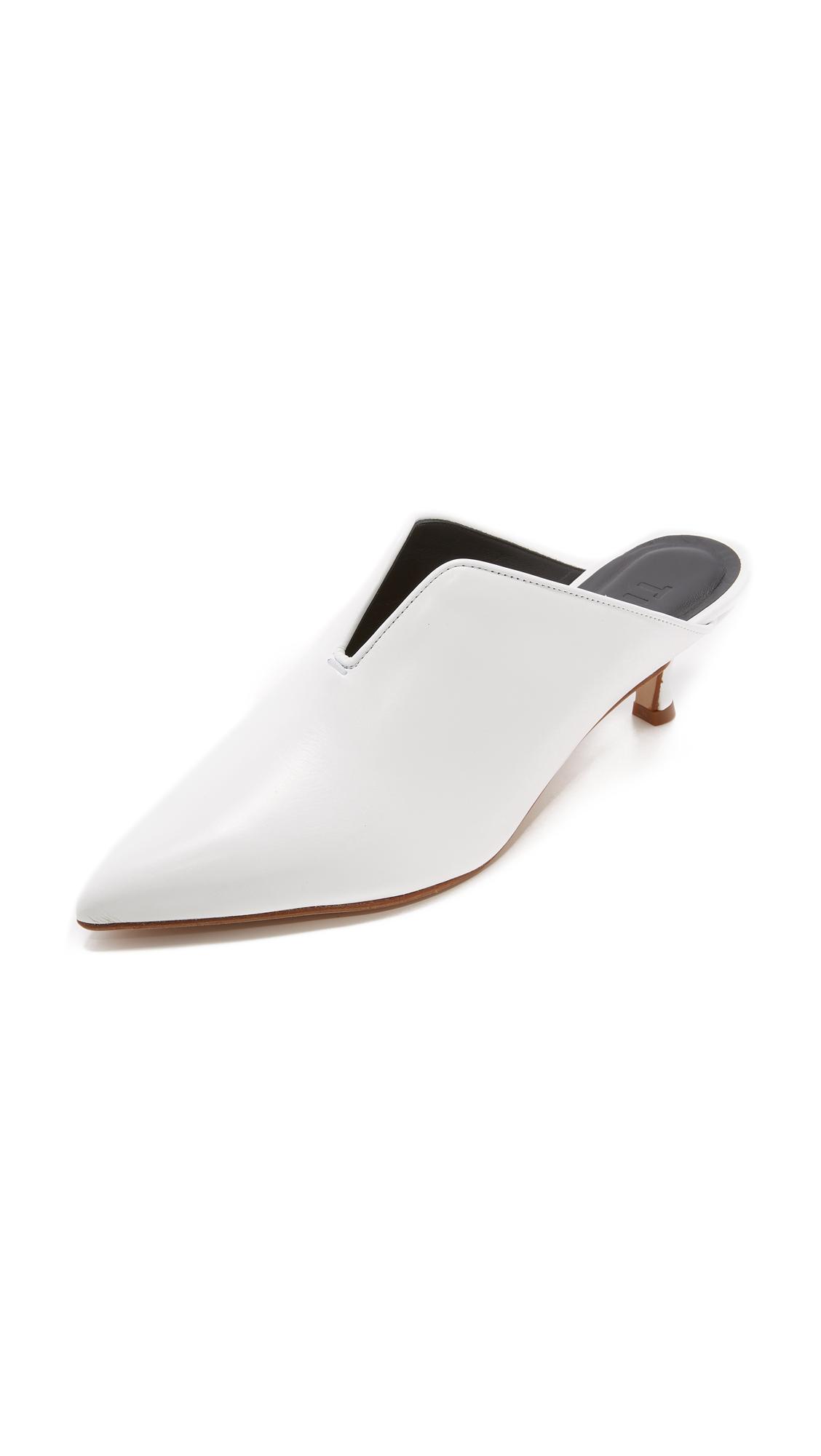 Tibi Dana Mule Pumps - Bright White
