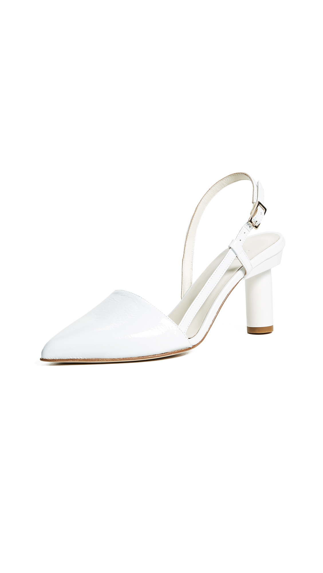 Tibi Sean Slingback Pumps - White