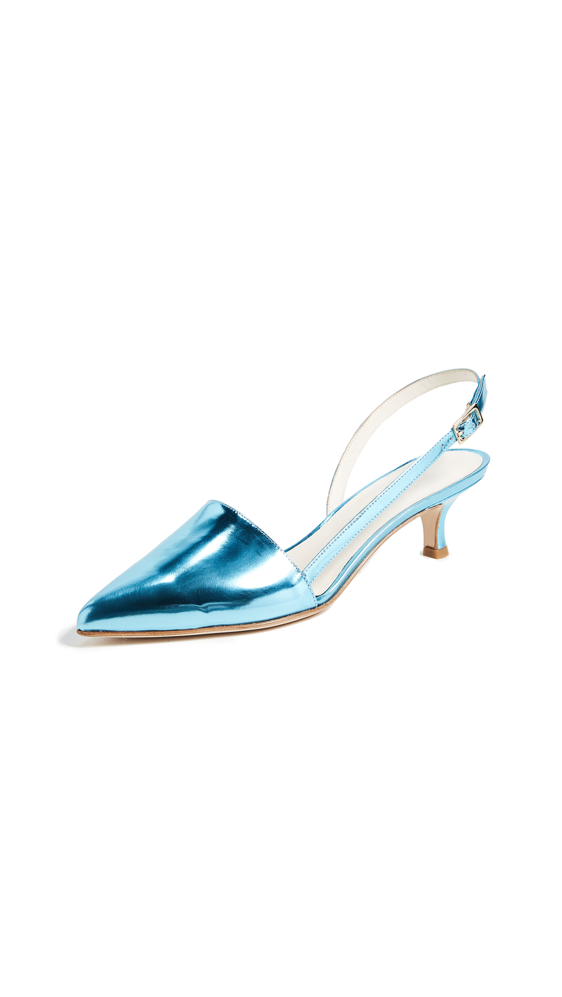 Tibi Simon Slingback Pumps - Oxford Blue