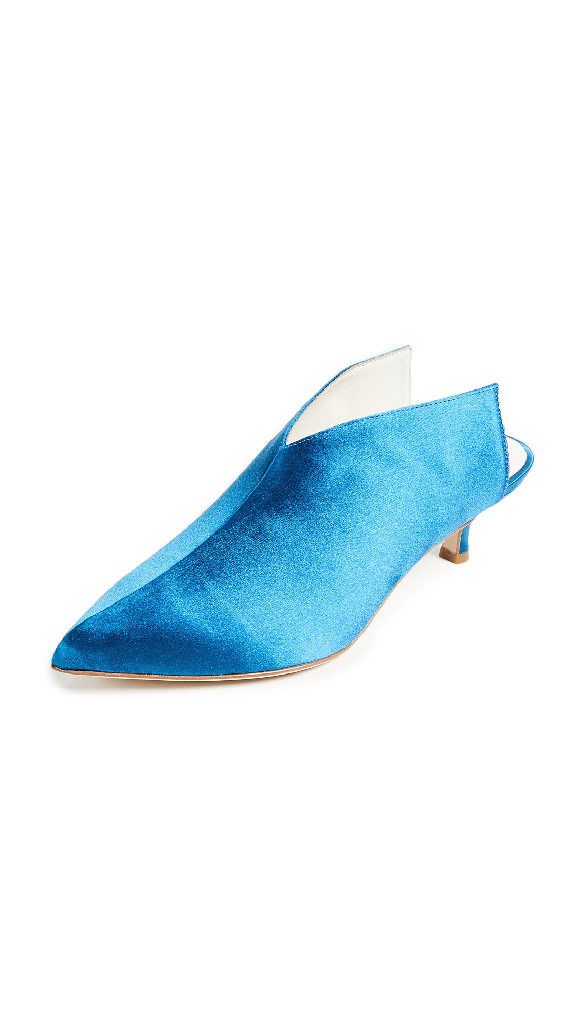 Tibi Jase Mules - Oxford Blue