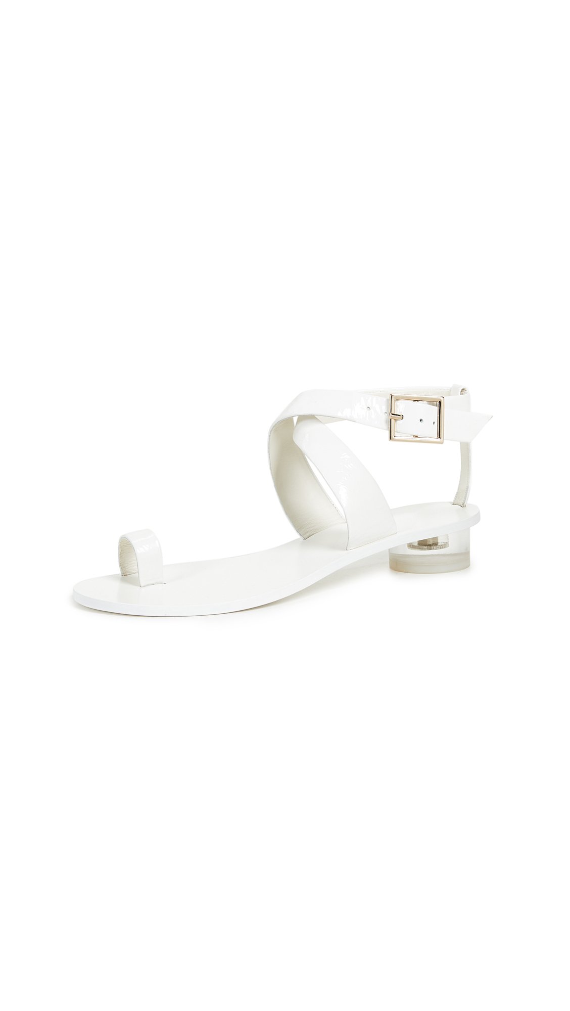 Tibi Hanson City Sandals In White/White