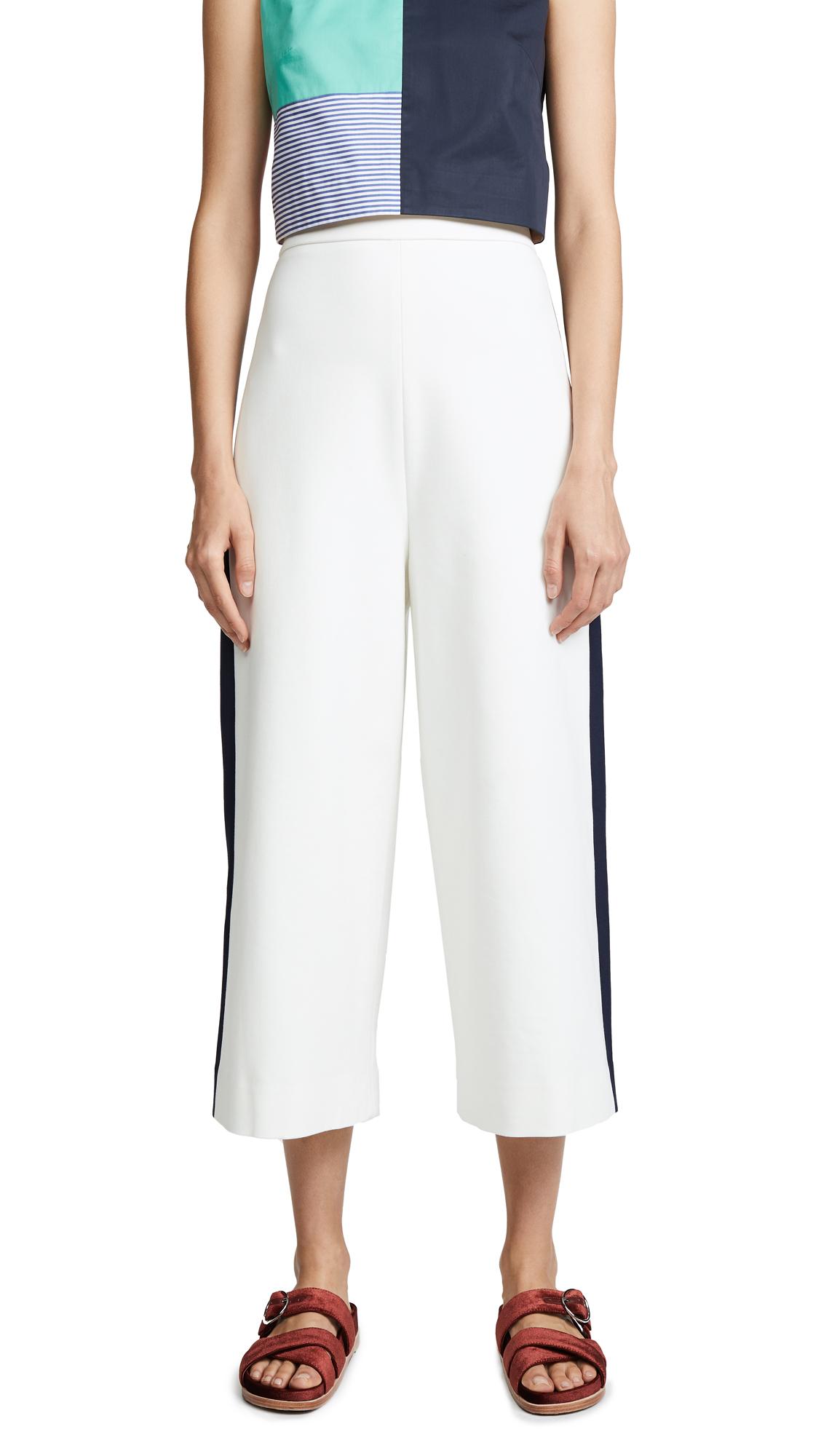 Tibi High Waisted Nerd Pants - Ivory