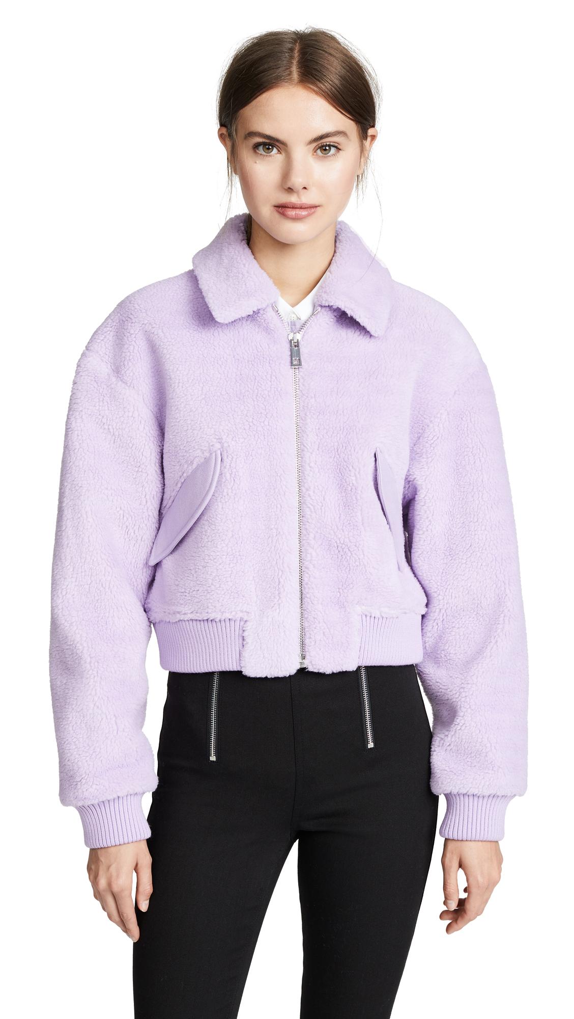 Tibi Gus Cropped Jacket In Lavender