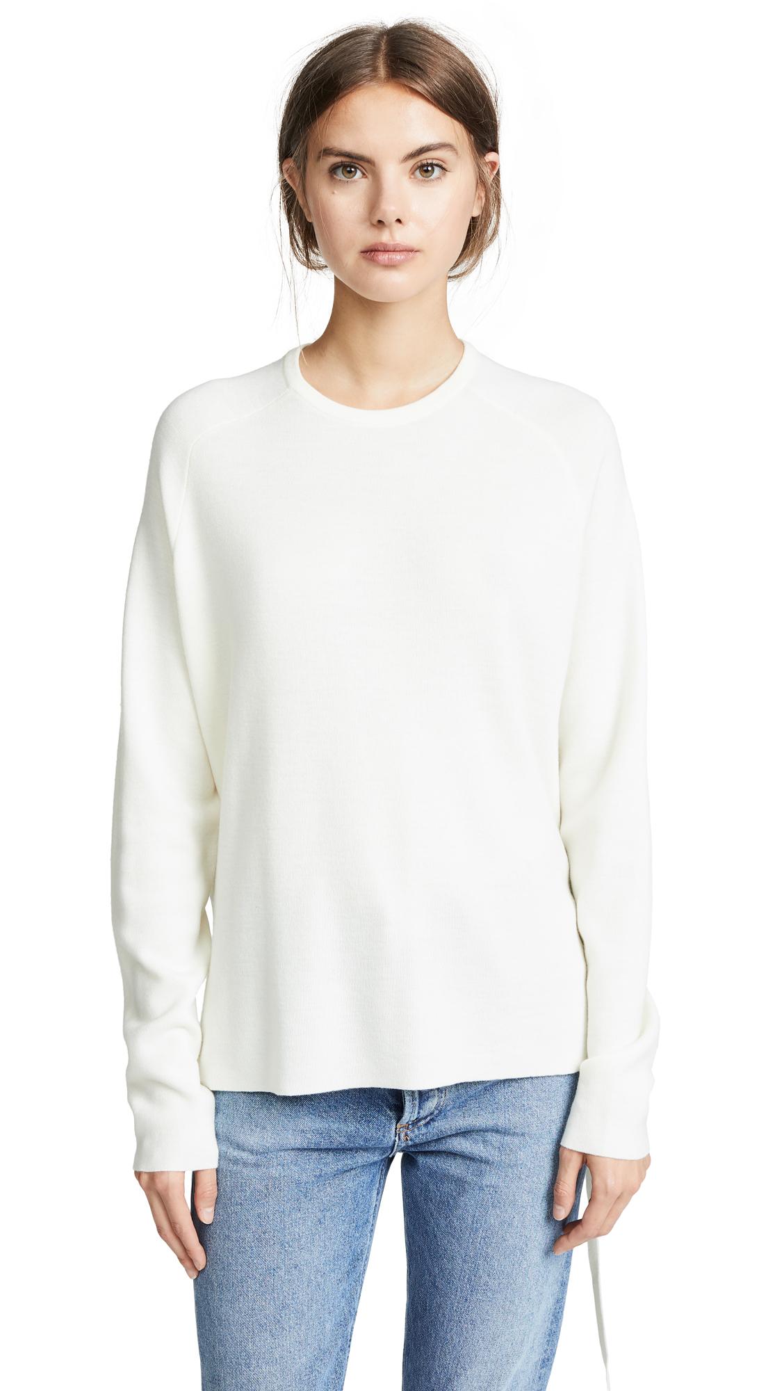 Tibi Poplin Back Pullover - Ivory/White Multi
