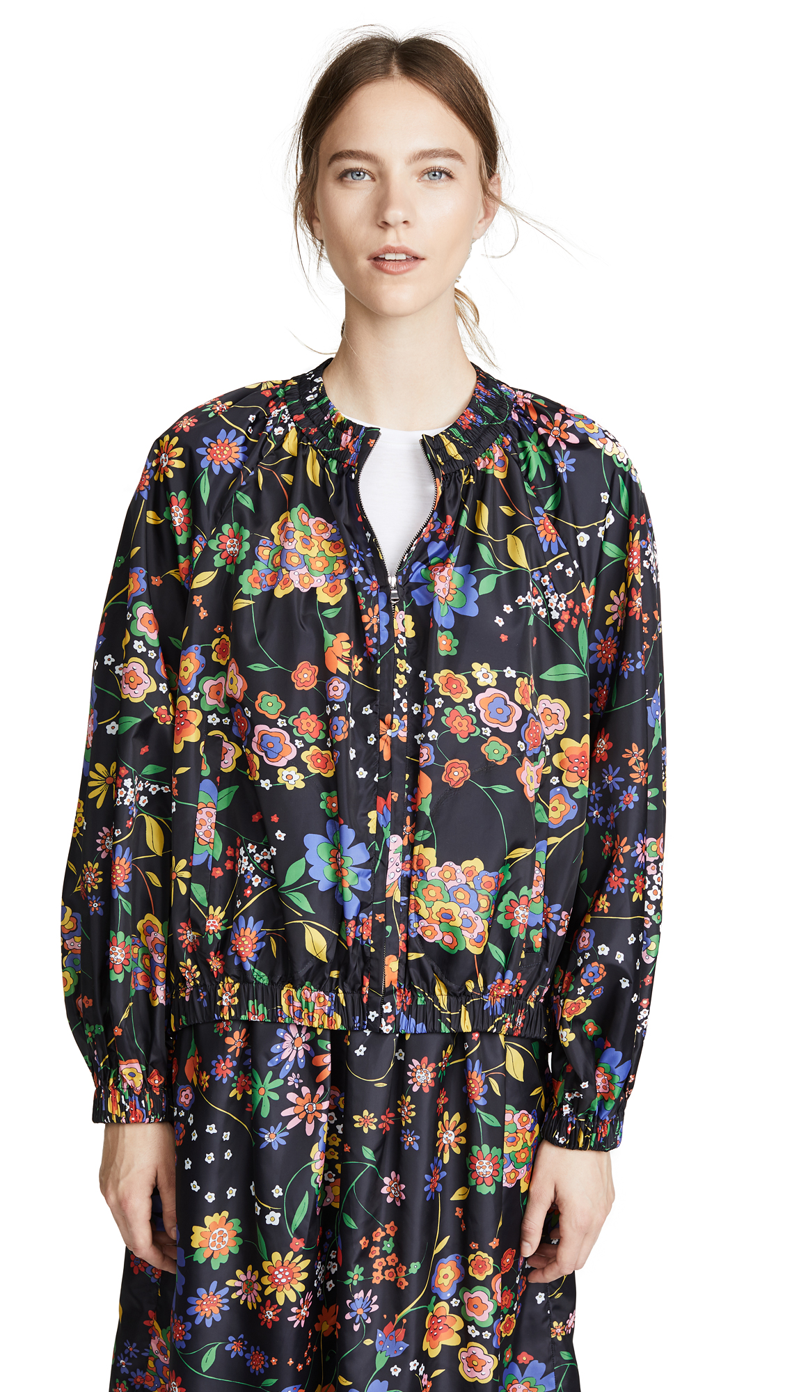 Tibi Detachable Anorak - Navy Multi