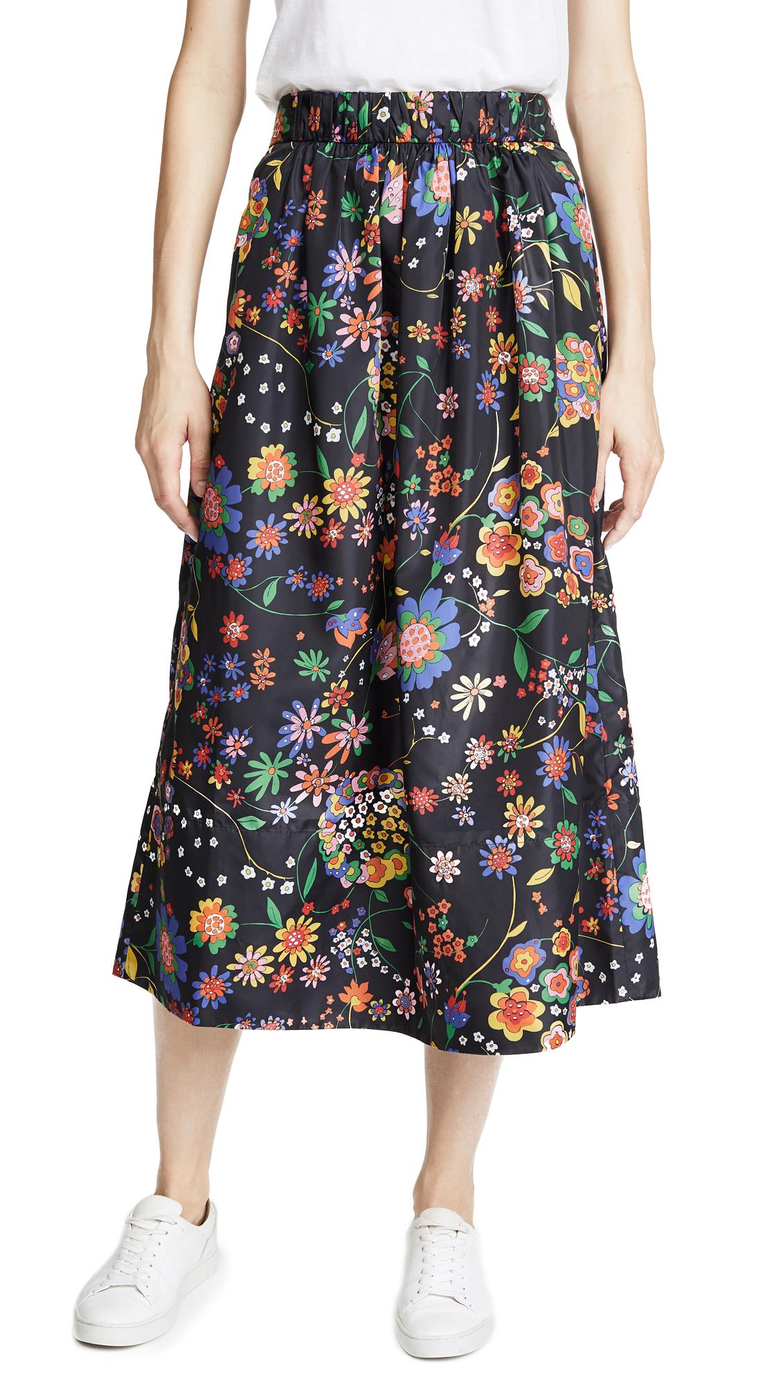0507415990 Tibi Smocked Floral Skirt | SHOPBOP